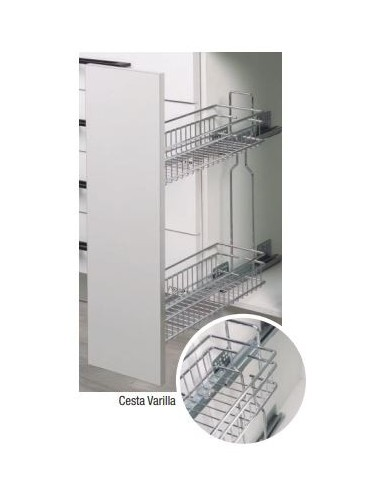 Botellero cesto para interior de armarios